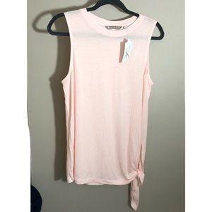 Athleta pink soft tie waist tank top M